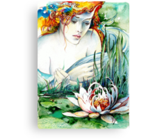 Angel and Lily Canvas Print