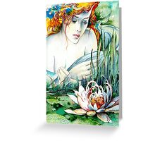 Angel and Lily Greeting Card