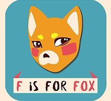 F is For Fox by elenartistic
