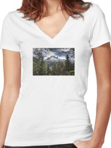 Mont Blanc (3) Women's Fitted V-Neck T-Shirt