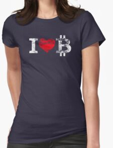 I <3 Bitcoin Womens Fitted T-Shirt