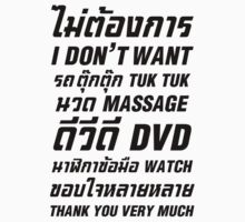 I Don't Want TUK TUK MASSAGE DVD WATCH Thank You Very Much One Piece - Long Sleeve