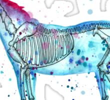 Unicorn Skeleton Sticker