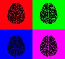 POP ART HUMAN BRAINS by Daniel-Hagerman