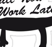 Chill now work later hammock sleeping spell Sticker