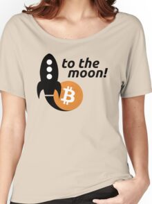 Bitcoin to the moon! Women's Relaxed Fit T-Shirt
