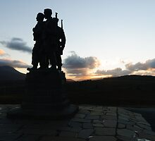 The Commando Monument by English Landscape Prints