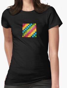 Rainbow Blocks Womens Fitted T-Shirt
