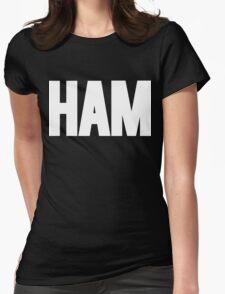 HAM Shirt White Ink Womens Fitted T-Shirt