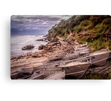 Gordon Bay boats Canvas Print