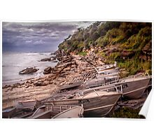 Gordon Bay boats Poster