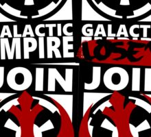 GALACTIC EMPIRE - wrong propaganda Sticker