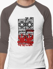 GALACTIC EMPIRE - wrong propaganda Men's Baseball ¾ T-Shirt