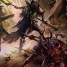 Necron Lord vs. Chaos Space Marine by FailedDEATH666
