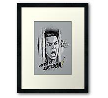 Here's Sheldon Framed Print