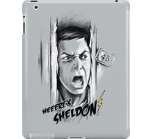 Here's Sheldon iPad Case/Skin