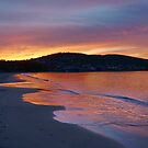 The fiery sea - Howrah Beach, Hobart, Tasmania, Australia by PC1134