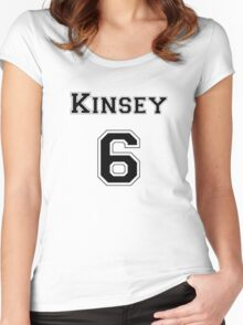 Kinsey6 - Black Women's Fitted Scoop T-Shirt