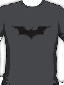 Dark Knight Logo Black with Drawn Edges T-Shirt