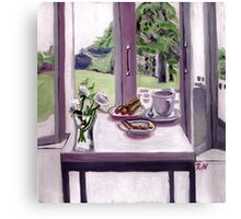 A serene morning scene Canvas Print