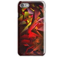 Large Fractals RED iPhone Case/Skin