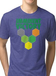 IMMINENT VICTORY with hexagons Tri-blend T-Shirt