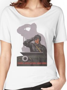Vintage USSR Soviet Tank Commander Women's Relaxed Fit T-Shirt