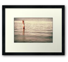 Standing alone in Homebush Framed Print