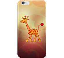 Red Heart Spotted Giraffe iPhone Case/Skin