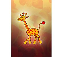Red Heart Spotted Giraffe Photographic Print