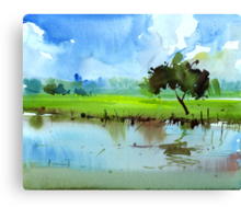 Sky N Farmland Canvas Print