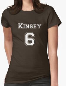 Kinsey6 - White Lettering Womens Fitted T-Shirt