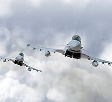 3 Squadron Typhoons  by James Biggadike