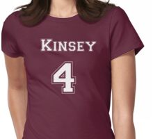 Kinsey4 - White Lettering Womens Fitted T-Shirt