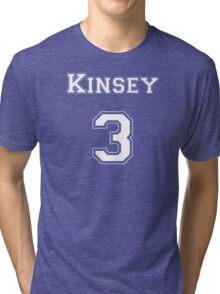 Kinsey3 - White Lettering Tri-blend T-Shirt