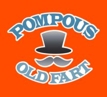 POMPOUS old FART with top hat Kids Tee
