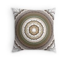 Snow Covered Mandala Throw Pillow