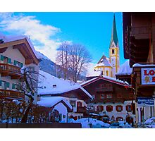 Snow in St Johan, Austria Photographic Print