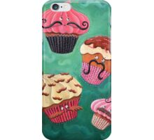 Flying Mustached Cupcakes iPhone Case/Skin