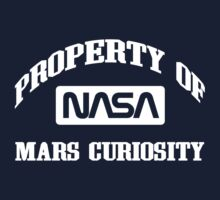Property of NASA Mars Curiosity Rover Athletic Wear White ink One Piece - Short Sleeve