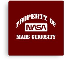 Property of NASA Mars Curiosity Rover Athletic Wear White ink Canvas Print