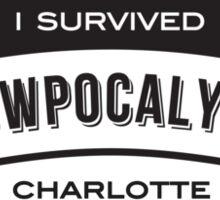 Snowpocalypse Charlotte 2014 T Shirt Sticker