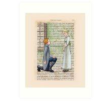 Pride and Prejudice - Jane And Mr Bingley Art Print