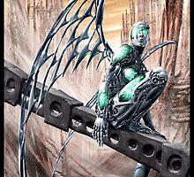 Cyberpunk Painting 008 by Ian Sokoliwski