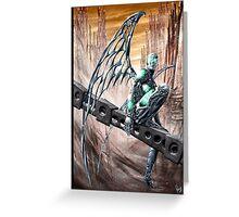Cyberpunk Painting 008 Greeting Card