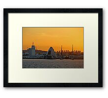 Fremantle Harbour Sunrise Framed Print