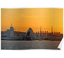 Fremantle Harbour Sunrise Poster