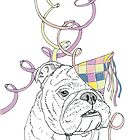Party Animal ! Bulldog by Adam Regester