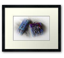Decoupage Pendant Showcase- please read description Framed Print