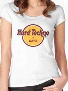 Hardtechno & Cafe Women's Fitted Scoop T-Shirt